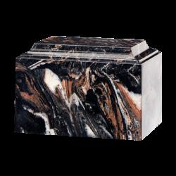 Tuscany Cultured Marble Urn Mission Black - Adult - CM-T-MISSION-BLACK-A