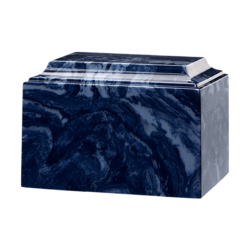 Tuscany Cultured Marble Urn Navy Blue - Adult - CM-T-NAVY-BLUE-A