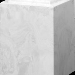 Windsor Cultured Marble Adult Urn White Carrera - Adult - CM-W-WHITE-CARRERA-A