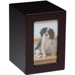 Affordable Dark Cherry Photo Frame Pet Urn