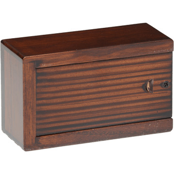 Cherry Blossom Wooden Urn Box (Extra Small Size) Back View