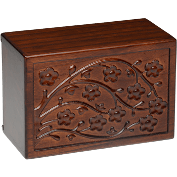 Cherry Blossom Wooden Urn Box (Medium Size)