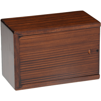 Cherry Blossom Wooden Urn Box (Medium Size) Back View