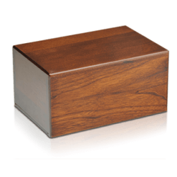 Economy Oriental Plane Wooden Urn Box (Medium Size)