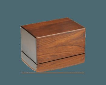 Economy Oriental Plane Wooden Urn Box (Small Size)