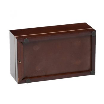 The Classic Pet Urn - Cherry Color - Base View (Medium Size)