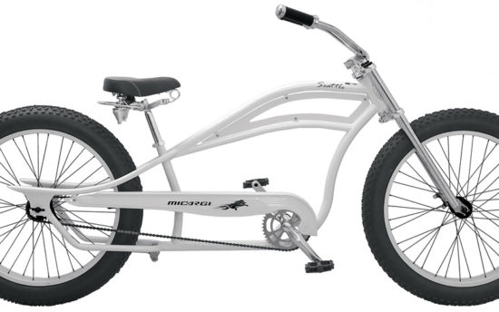 White Micargi Seattle Cruiser Bicycle