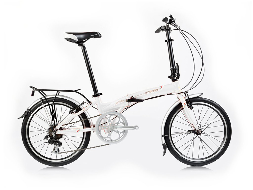 MFT30 White Folding Bicycle