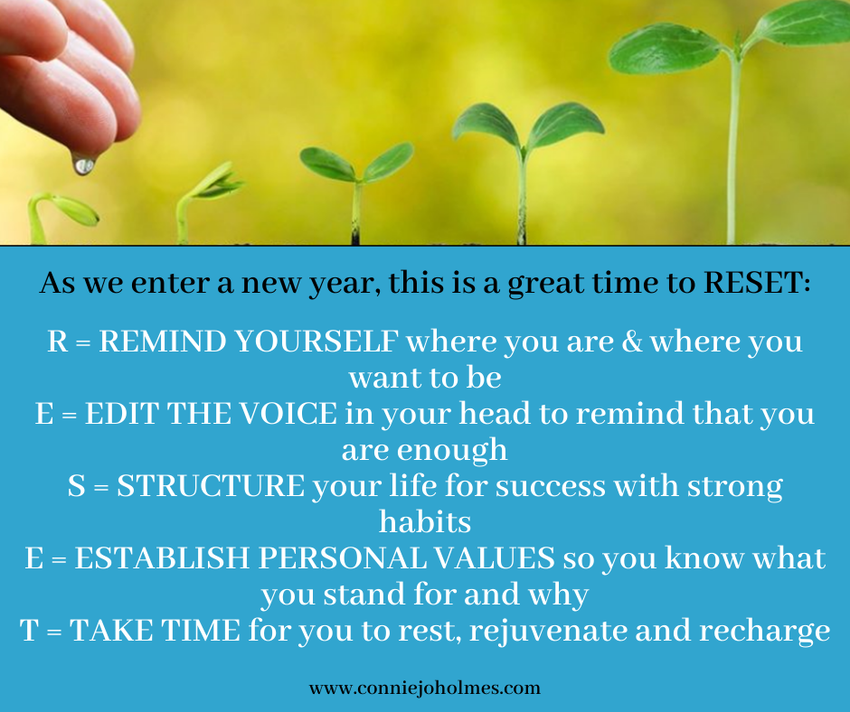 As we enter a new year, this is a great time to reset