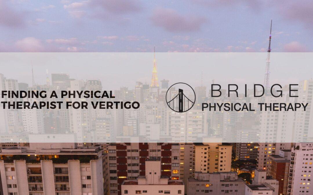 Physical Therapist for Vertigo