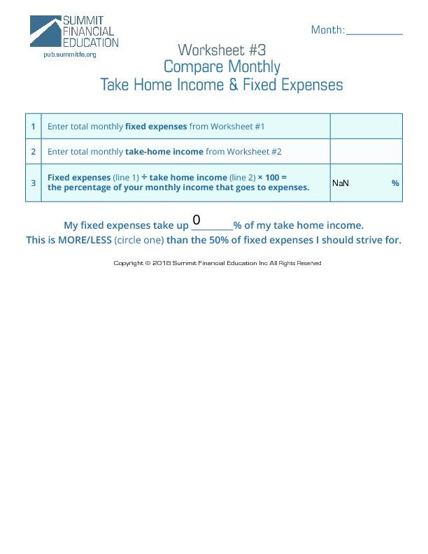 Worksheet3-CompareIncomeExpenses - Fillable-thumbnail