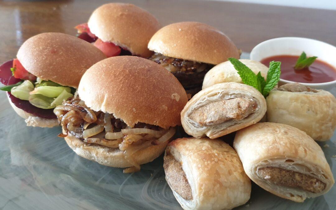 Enjoy GF weekend w Plant-Based BBQ Portello Mushroom Sliders