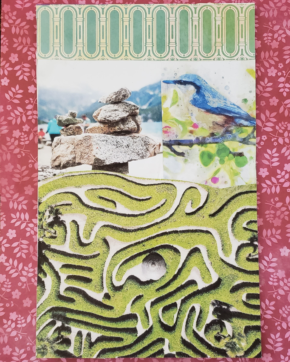SoulCollage® Card :: Committee Card :: I Am One Who Is Your Grounded NavigatorGrounded Navigator