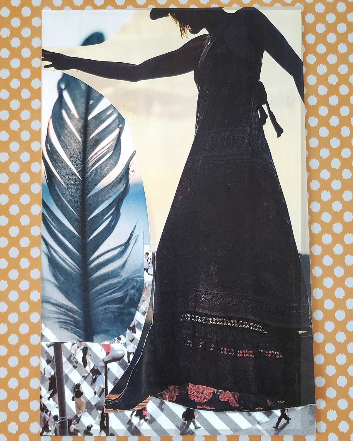 SoulCollage® Card :: Committee Suit :: I Am One Who is Your Slow Walker