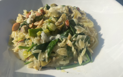 Asparagus + Blue Cheese Orzotto