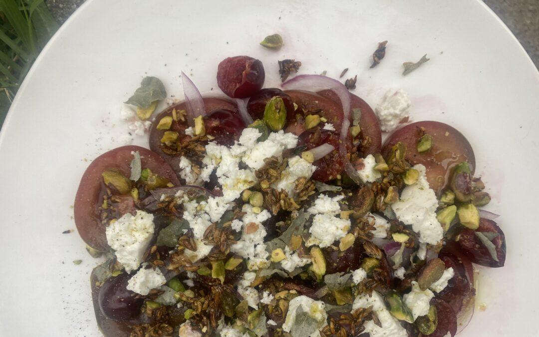 Food in Common: Tomato, Cherry + Saltbush Christmas Salad