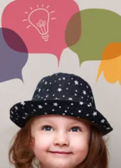 A girl in a hat