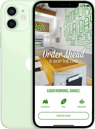 Simply Salad Phone App