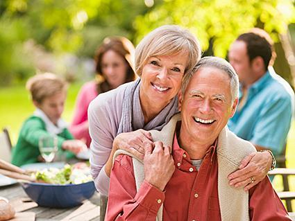 Senior Couple - family picnic