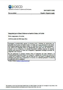 Integridad para el Buen Gobierno en América Latina y el Caribe: de los compromisos a la acción