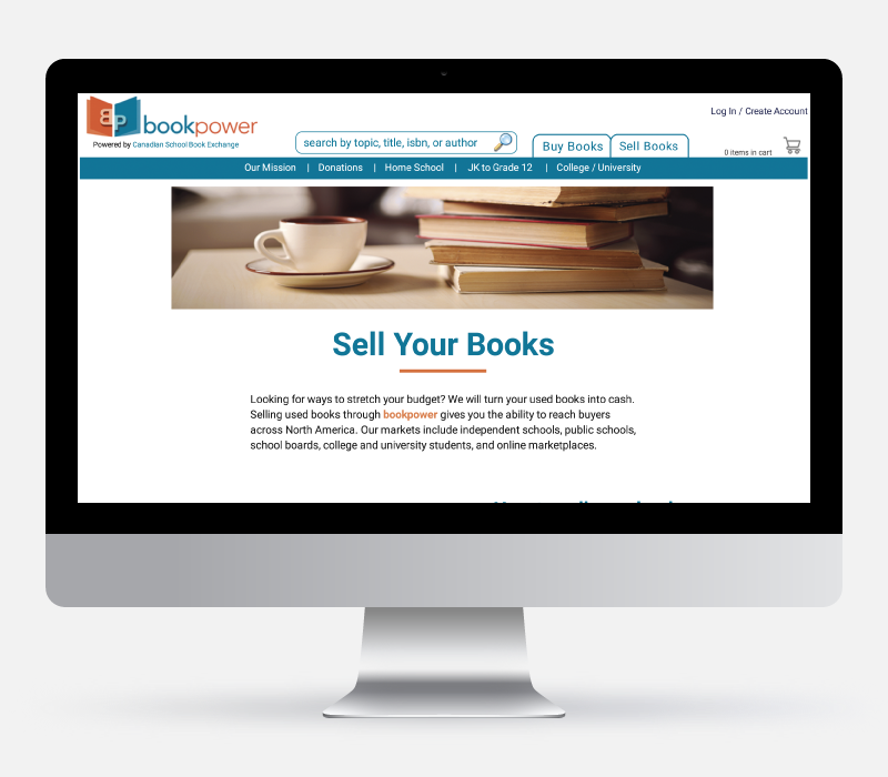 Book Power Wireframe Design - Created by Jessica Design and Bare Bones Marketing.