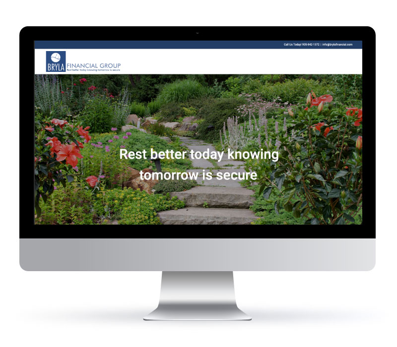 BRYLA Financial Group - Website Created by Jessica Design and Bare Bones Marketing.