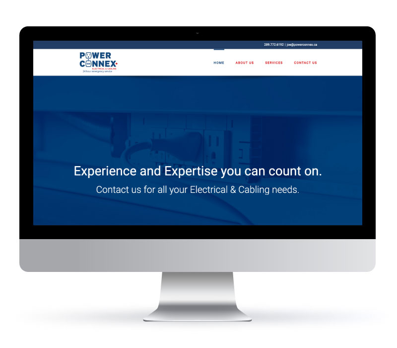 Power Connex - Website Created by Jessica Design and Bare Bones Marketing.