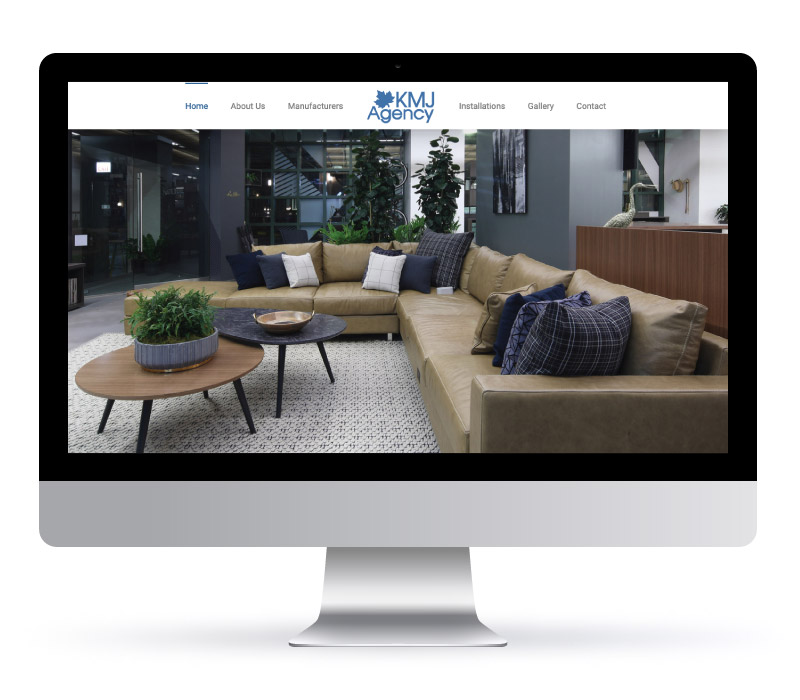 KMJ Agency Website - Graphic & Web design services created with Jessica Design in Hamilton.
