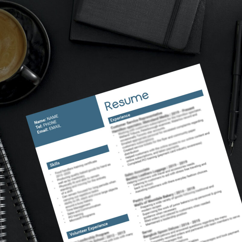 Resume - Print Design Gallery at Jessica Design, graphic and web services for small and medium-sized businesses.