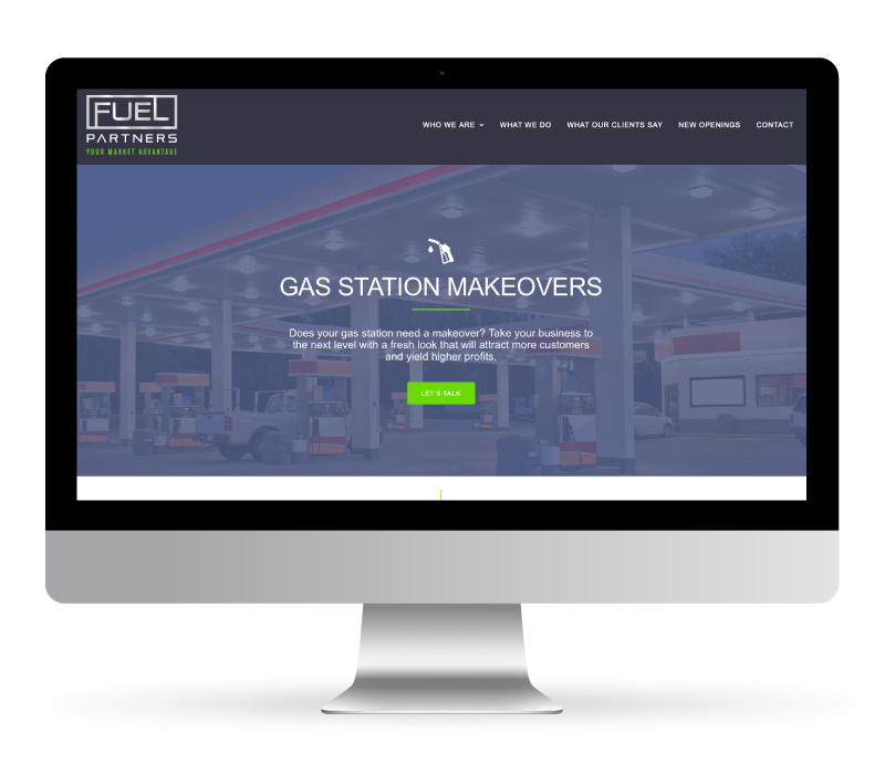 Web Design - Fuel Partners made with Bare Bones Marketing and Jessica Design marketing agency in Ontario.