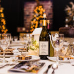 Rogue Winterfest 2016 Gala and Grand Auction Table with Devitt Wine Bottle