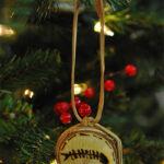 Rogue Winterfest 2016 Trees Stone Age Christmas Paleo Fish Artwork Ornament
