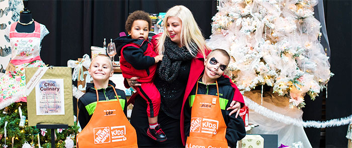 Family at The Home Depot Children's Workshop