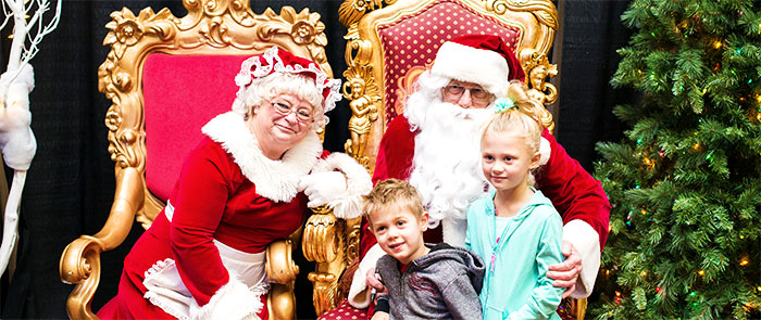 Santa and Mrs. Claus with Kids
