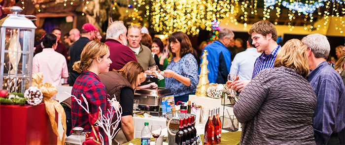 Serving Wine at the Culinary Christmas Classic