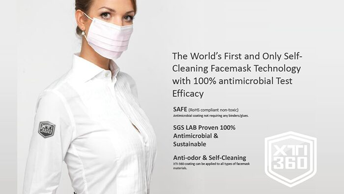 StaClean™ medical masks are coated with XTI-360™ for an extra layer of protection.