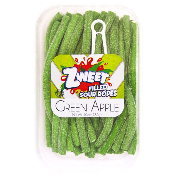 Zweet- Sour Apple Ropes 6 x 10 oz