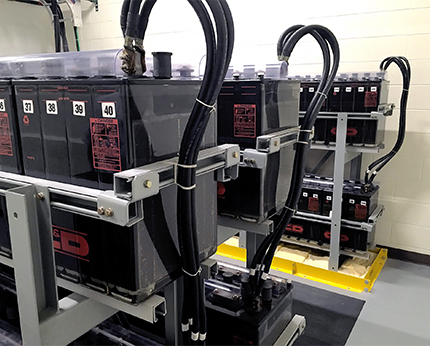 Electrical substation battery systems