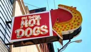 Old Fashion Hot Dog Sign