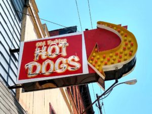 Old Fashion Hot Dog Sign