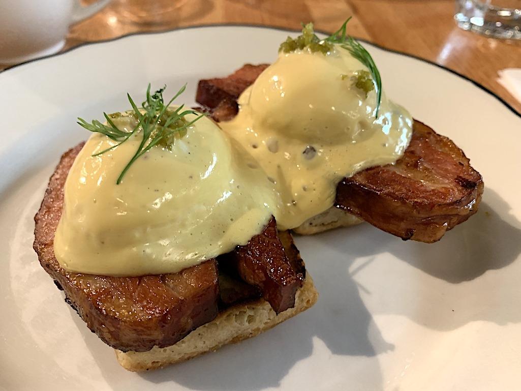 Clementine Cafe Braised Bacon Benedict Winnipeg