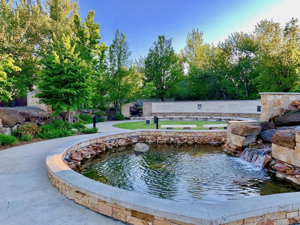 Anne Frank Human Right Memorial Boise Idaho Fountain
