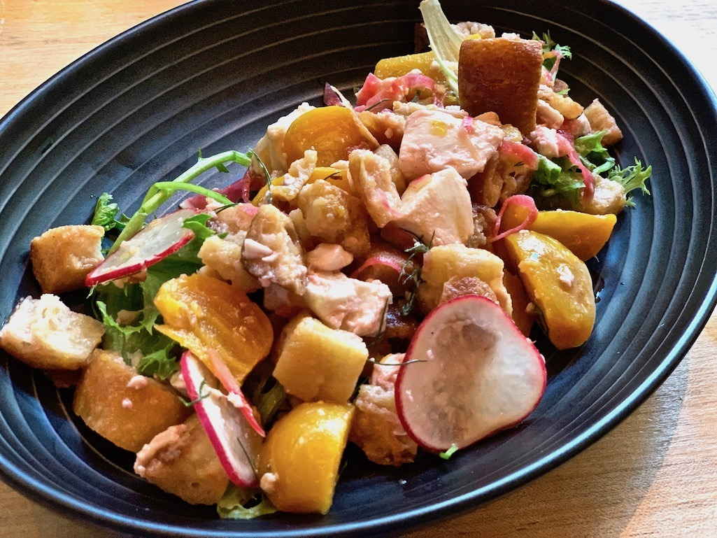 Panzanella Salad beets, radish, mozzarella Alavita Boise Idaho