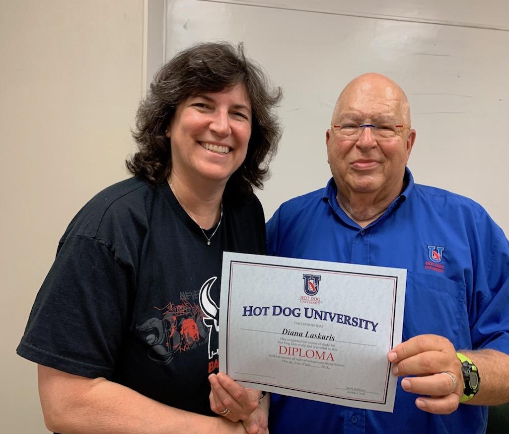 Diana Graduating Hot Dog University