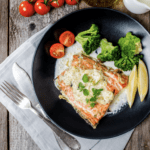 Sitka Salmon With Lemon Garlic Cream