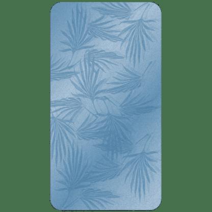 Kahuna Grip Palm Frond Blue Bathmat