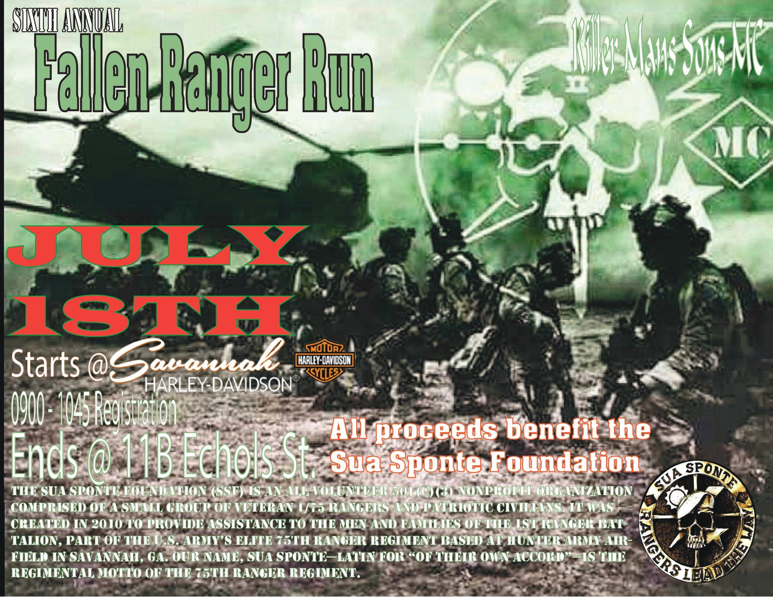 Killer Mans Sons MC - 6th Annual Fallen Ranger Run @ Savannah Harley-Davidson | Savannah | Georgia | United States