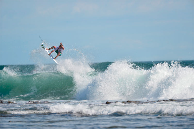 Nacho volando en Nicaragua.