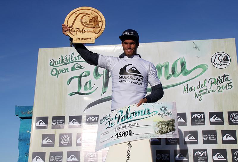 Frankie Usuna y su primera victoria en el Quiksilver Open La Paloma.