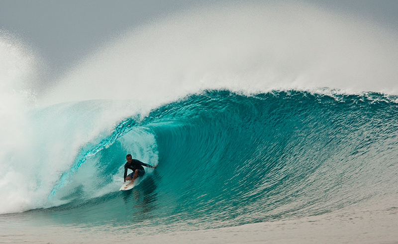 Tom Curren en Indo.